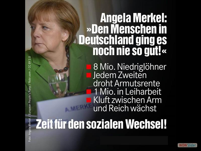 1.2 - Angela Merkel - den Menschen in Deutschland ging es noch nie so gut