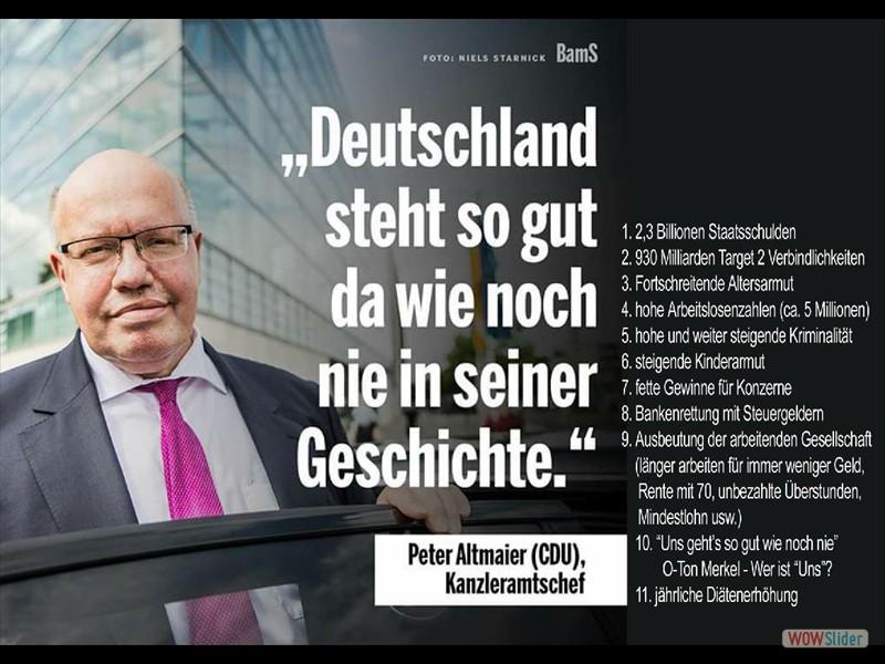 1.3 - Peter Altmaier-Deutschland steht so gut da wie noch nie