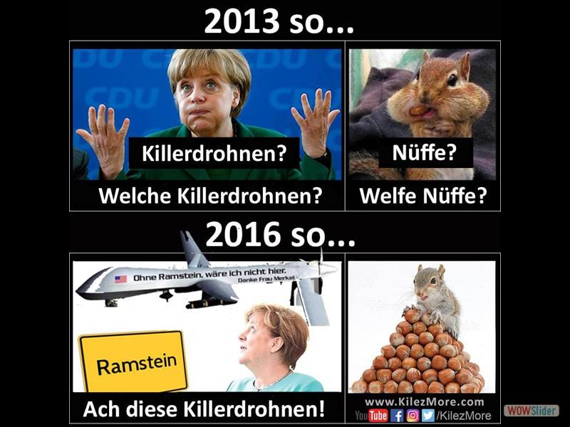9 - Drohnen - Merkel weiß von nix