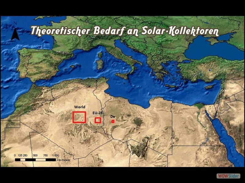 Alle - Theoretischer Bedarf an Solar-Kollektoren