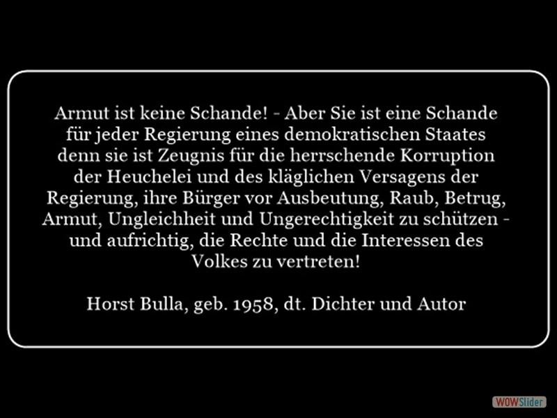 Armut in der Demokratie Horst Bulla