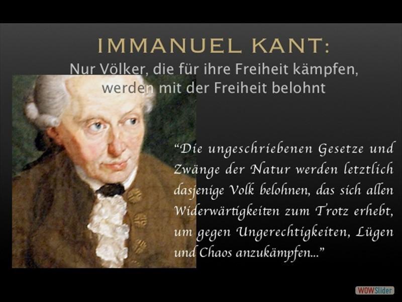 Immanuel Kant Wer für die Freiheit kämpft