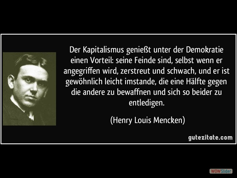 Kapitalismus Demokratie Henry Louis Mencken