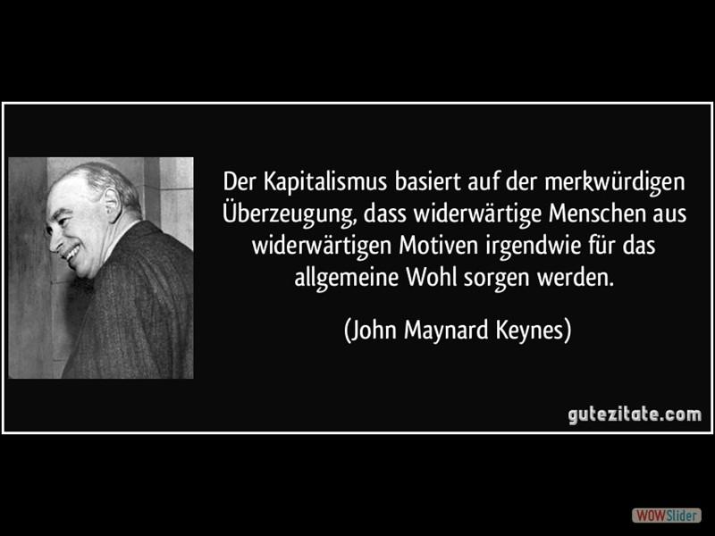 Kapitalismus Demokratie John Maynard Keynes