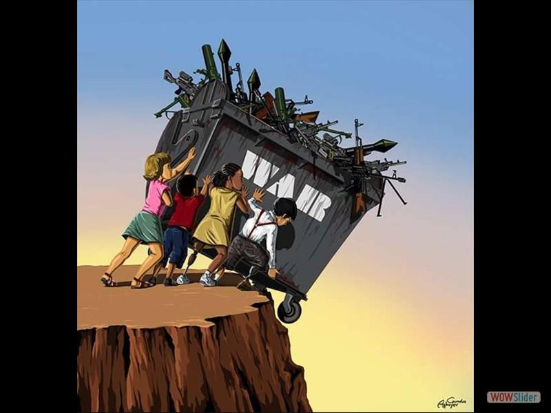 42 - War runterkippen Kinder kippen Krieg runter Müllkippe