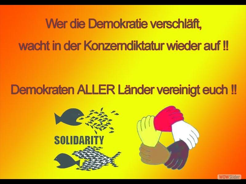 43 - Wer in der Demokratie schläft..
