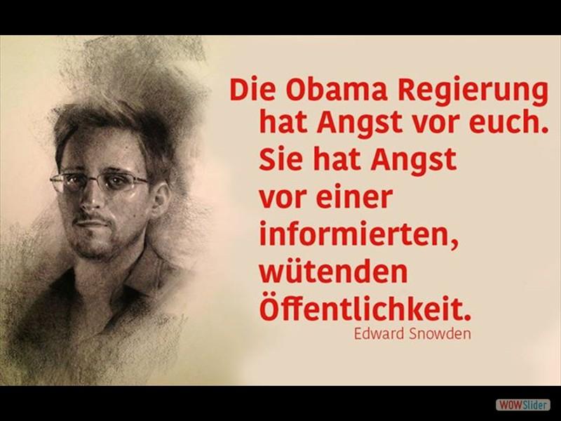 Die Obama Regierung hat Angst vor euch - Edward Snowden