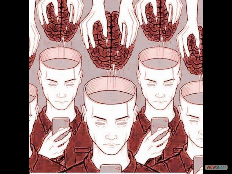 Gehirn in leere Köpfe Handy Jugend Kultur Medien