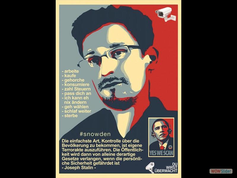 Snowden Obama DIN A4 Kopie